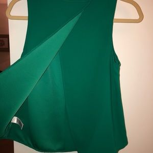 Emerald green blouse- size xs